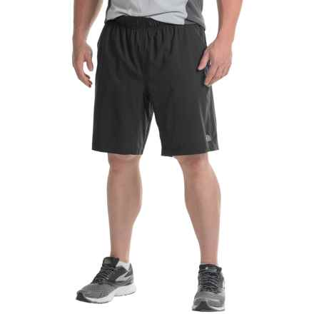 The North Face Ampere Dual Shorts - Built-In Boxer Briefs (For Men) in Tnf Black/Asphalt Grey - Closeouts