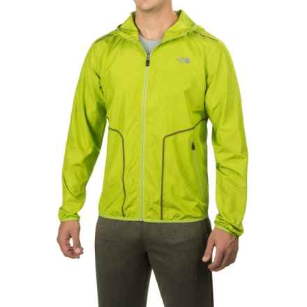 The North Face Ampere Wind Trainer Jacket - Hooded, Full Zip (For Men) in Chive Green - Closeouts