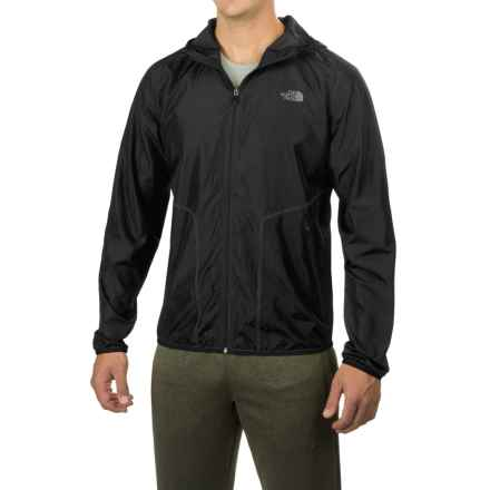 The North Face Ampere Wind Trainer Jacket - Hooded, Full Zip (For Men) in Tnf Black - Closeouts