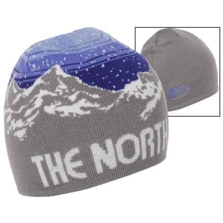 The North Face Anders Beanie (For Little and Big Kids) in Metallic Silver/Lapis Blue - Closeouts