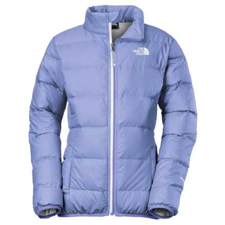 The North Face Andes Down Jacket - 550 Fill Power (For Little and Big Girls) in Grapemist Blue - Closeouts