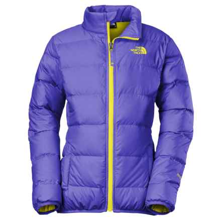 The North Face Andes Down Jacket - 550 Fill Power (For Little and Big Girls) in Starry Purple - Closeouts