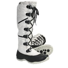 The North Face Anna Purna Tall Lace Winter Boots - Waterproof, Insulated (For Women) in Moonlight Ivory/Tnf Black - Closeouts