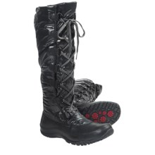 The North Face Anna Purna Tall Lace Winter Boots - Waterproof, Insulated (For Women) in Tnf Black/Tnf Black - Closeouts