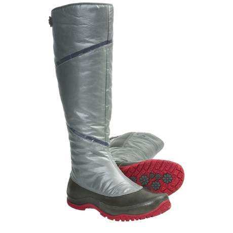 The North Face Anna Purna Tall Zip Winter Boots - Waterproof, Insulated (For Women) in Graphite Grey/Barberry Grey