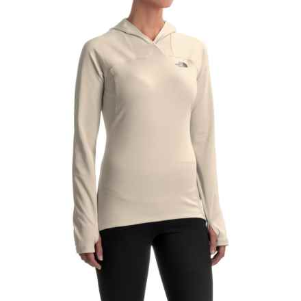 The North Face Any Distance Hooded Shirt - Long Sleeve (For Women) in Moonlight Ivory - Closeouts