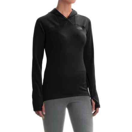 The North Face Any Distance Hooded Shirt - Long Sleeve (For Women) in Tnf Black - Closeouts