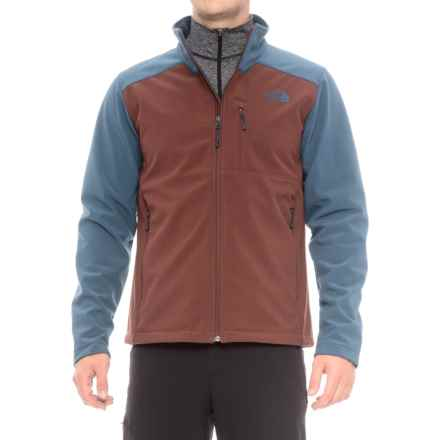 The North Face Apex Bionic 2 Soft Shell Jacket (For Men) in Sequoia Red/Shady Blue - Closeouts