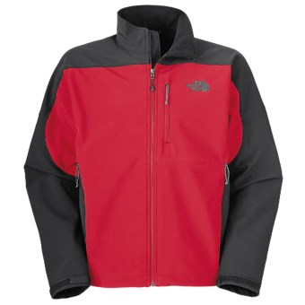 The North Face Apex Bionic Jacket - Soft Shell (For Men) in Tnf Red/Asphalt Grey
