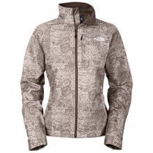 The North Face Apex Bionic Jacket - Soft Shell (For Women) in Weimaraner Brown Herringbone Print - Closeouts