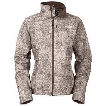 The North Face Apex Bionic Jacket - Soft Shell (For Women) in Weimaraner Brown Herringbone Print