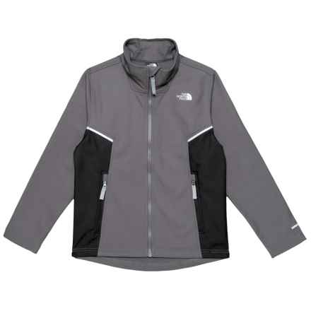 The North Face Apex Bionic Soft Shell Jacket (For Boys) in Graphite Grey - Closeouts