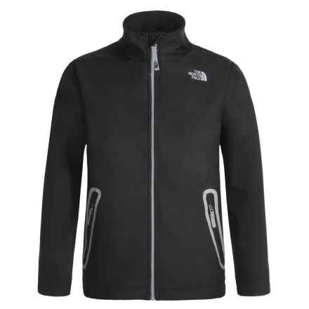 The North Face Apex Bionic Soft Shell Jacket (For Boys) in Tnf Black - Closeouts