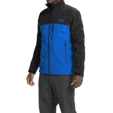 The North Face Apex Bionic Soft Shell Jacket (For Men) in Monster Blue/Tnf Black - Closeouts