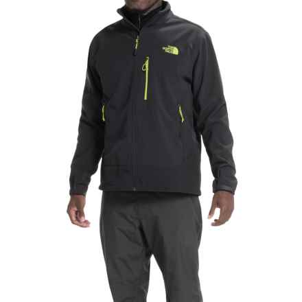 The North Face Apex Bionic Soft Shell Jacket (For Men) in Tnf Black/Tnf Black/Macaw Green - Closeouts