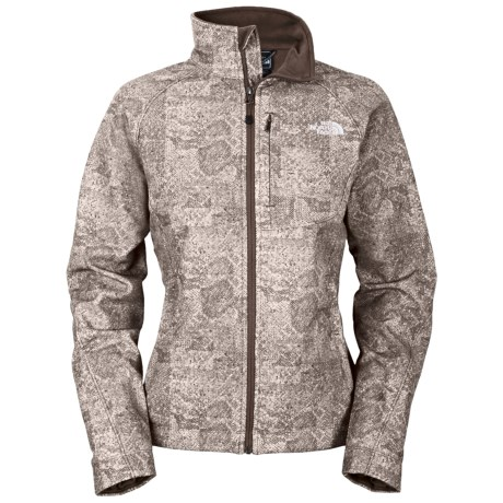 The North Face Apex Bionic Soft Shell Jacket (For Women) in Weimaraner Brown Herringbone Print