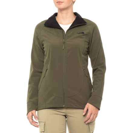 The North Face Apex Byder Soft Shell Jacket (For Women) in New Taupe Green - Closeouts