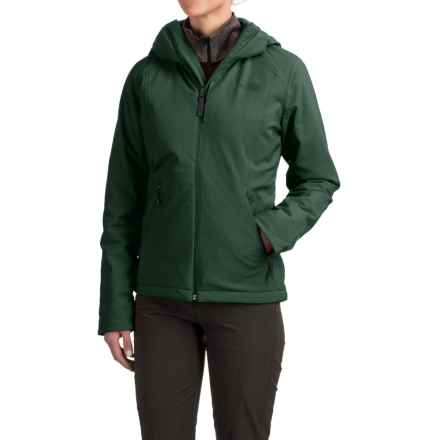 The North Face Apex Elevation Soft Shell Hooded Jacket - Insulated (For Women) in Darkest Spruce - Closeouts