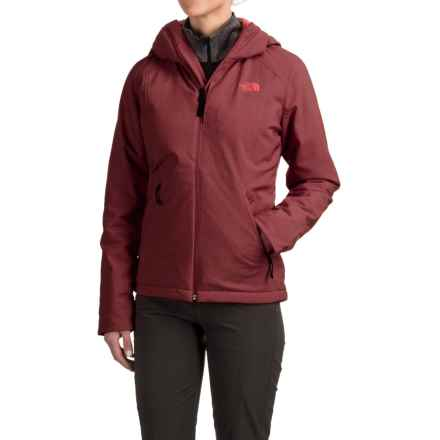 The North Face Apex Elevation Soft Shell Hooded Jacket - Insulated (For Women) in Deep Garnet Red Heather - Closeouts