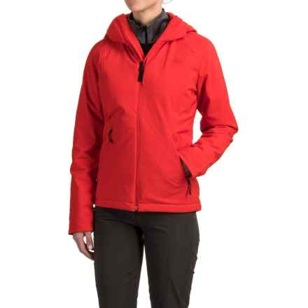 The North Face Apex Elevation Soft Shell Hooded Jacket - Insulated (For Women) in High Risk Red - Closeouts