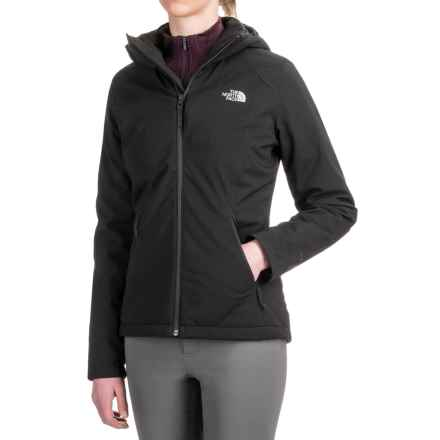 The North Face Apex Elevation Soft Shell Hooded Jacket - Insulated (For Women) in Tnf Black - Closeouts