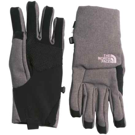 The North Face Apex+ Etip® Gloves - Insulated (For Women) in Rabbit Grey Heather - Closeouts