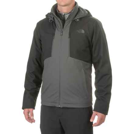 The North Face Apex PrimaLoft® Hooded Jacket - Insulated (For Men) in Asphalt Grey/Tnf Black - Closeouts