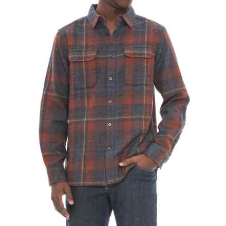 The North Face Arroyo Flannel Shirt - Long Sleeve (For Men) in Asphalt Grey Plaid - Closeouts