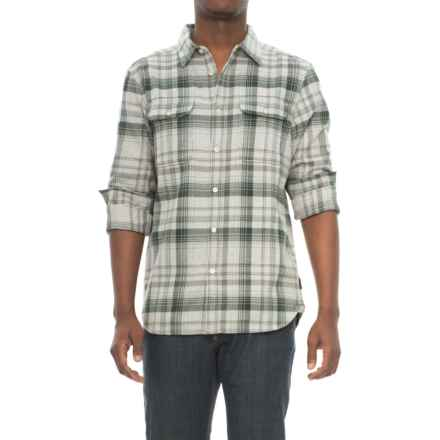 The North Face Arroyo Flannel Shirt - Long Sleeve (For Men) in High Rise Green Plaid - Closeouts