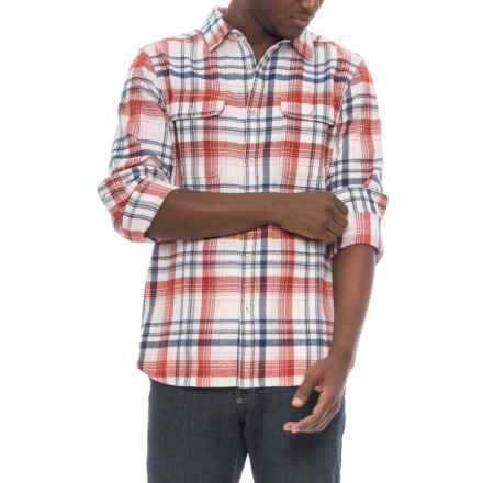 The North Face Arroyo Flannel Shirt - Long Sleeve (For Men) in Vintage White Plaid - Closeouts