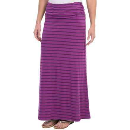 The North Face Ava Maxi Skirt (For Women) in Magic Magenta Stripe - Closeouts