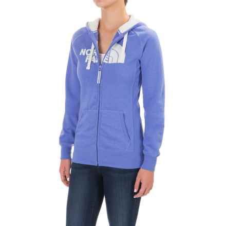 The North Face Avalon Hoodie - Full Zip (For Women) in Stellar Blue Light Heather (Std)/Vaporous Grey - Closeouts