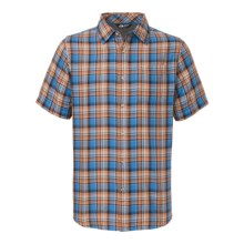 The North Face Bagley Shirt - Short Sleeve (For Men) in Clear Lake Blue/Cosmic Blue - Closeouts