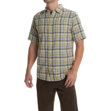 The North Face Bagley Shirt - Short Sleeve (For Men) in Misted Yellow/Clear Lake Blue - Closeouts