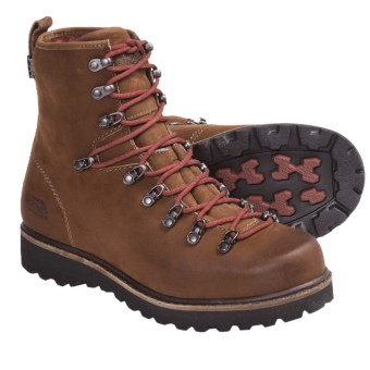 The North Face Ballard Boots - Waterproof (For Men) in Camel Brown/Slickrock Red