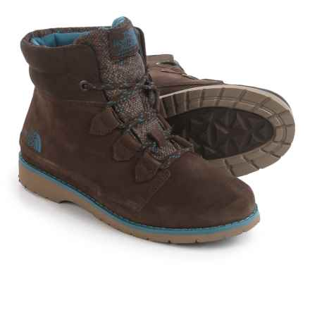 The North Face Ballard Roll Down Boots - Waterproof, Insulated, Suede (For Women) in Demitasse Brown/Tapestry Blue - Closeouts