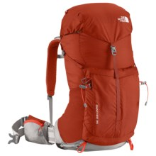 The North Face Banchee 35 Backpack - Internal Frame in Red Clay/Zion Orange - Closeouts