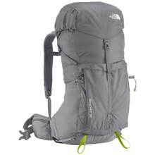 The North Face Banchee 35 Backpack - Internal Frame in Zinc Grey/Macaw Green - Closeouts