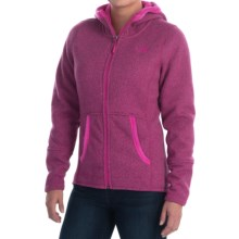 The North Face Banderitas Fleece Hoodie - Hooded, Full Zip (For Women) in Dramatic Plum Heather - Closeouts