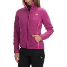 The North Face Banderitas Fleece Jacket - Full Zip (For Women) in Dramatic Plum Heather - Closeouts