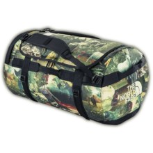The North Face Base Camp Duffel Bag - Large in Sepia Brown Hiker Print - Closeouts