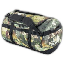 The North Face Base Camp Duffel Bag - Medium in Sepia Brown Hiker Print - Closeouts