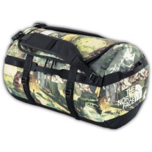 The North Face Base Camp Duffel Bag - Small in Sepia Brown Hiker Print - Closeouts