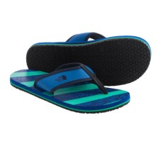 The North Face Base Camp Flip-Flops (For Little and Big Boys) in Snorkel Blue/Billiard Green - Closeouts