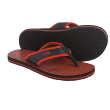 The North Face Base Camp Flip-Flops (For Little and Big Boys) in Valencia Orange/Tnf Black - Closeouts