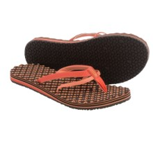 The North Face Base Camp Flip-Flops (For Women) in Emberglow Orange/Punch Orange - Closeouts