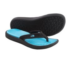 The North Face Base Camp Lite Flip-Flops (For Women) in Tnf Black/Fortuna Blue - Closeouts