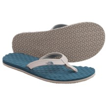 The North Face Base Camp Mini Sandals - Flip-Flops (For Women) in Atmosphere Grey/Indian Teal Blue - Closeouts