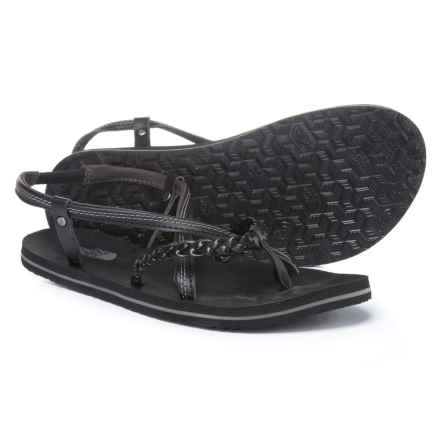 The North Face Base Camp Plus Gladi Sandals (For Women) in Tnf Black / Dark Gull Grey - Closeouts