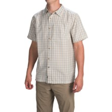 The North Face Bellingham Plaid Shirt - Short Sleeve (For Men) in Dune Beige - Closeouts
